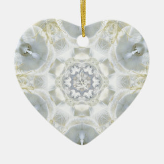 Monoi Gardenia Angels Double-Sided Heart Ceramic Christmas Ornament