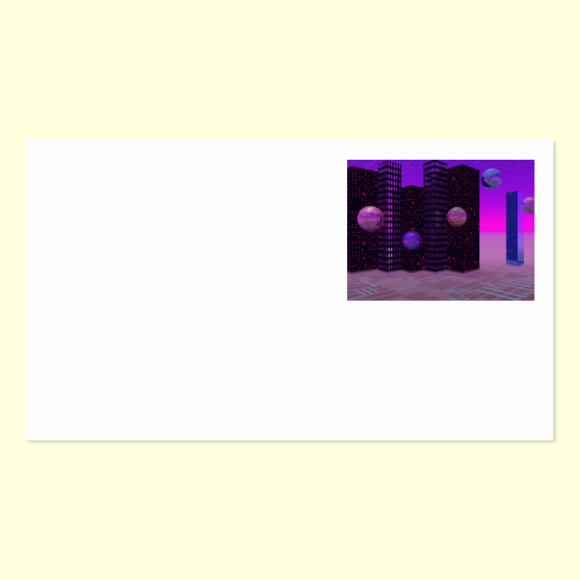 Monolith Quest, Abstract City Violet Double-Sided Standard Business Cards (Pack Of 100)