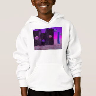 Monolith Quest, Abstract City Violet Hoodie