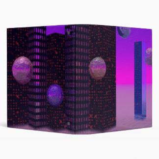 Monolith Quest, Abstract City Violet Vinyl Binders
