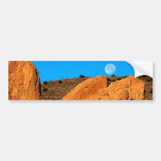 Monolith under the Moon Car Bumper Sticker