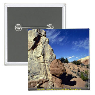 Monolithic chimney, Kodachrome State Park, Utah ro Pinback Buttons