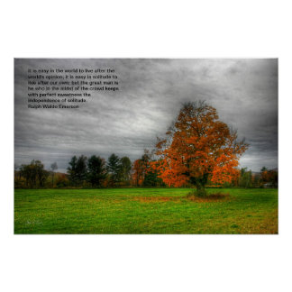 Monolito del arce, poster de la cita de Emerson