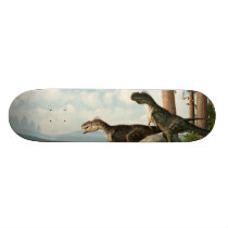 Monolophosaurs on the Hunt Skateboard