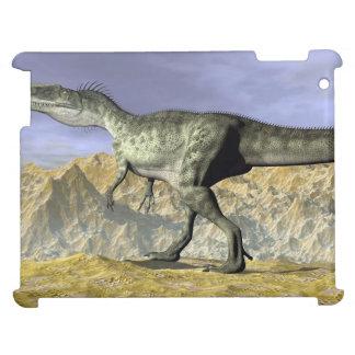 Monolophosaurus dinosaur in the desert - 3D render Cover For The iPad