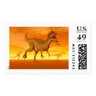 Monolophosaurus dinosaurs- 3D render Postage