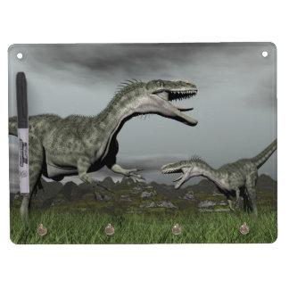 Monolophosaurus roaring - 3D render Dry Erase Board With Keychain Holder