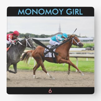 Monomoy Girl Square Wall Clock