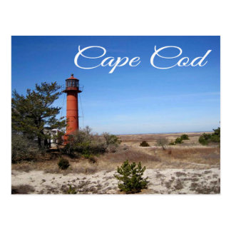Monomoy Ligththouse Cape Cod Massachusett Postcard