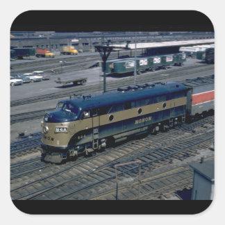 Monon EMD F-3A #84A, 1961._Trains Square Sticker