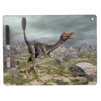 Mononykus dinosaur in the desert - 3D render Dry Erase Board With Keychain Holder