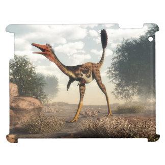 Mononykus dinosaur in the desert - 3D render iPad Cover