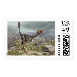 Mononykus dinosaur in the desert - 3D render Postage