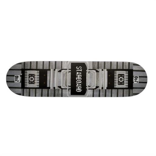 Monopatín adaptable de estribor del texto tablas de skate