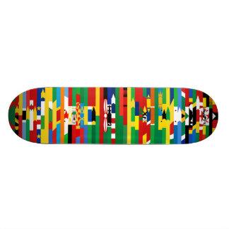 Monopatín africano de las banderas tabla de skate