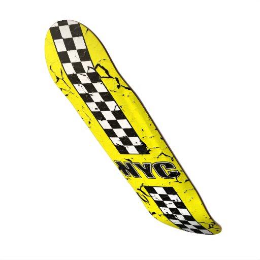 Monopatín amarillo grande de la rutina magnífica tabla de skate