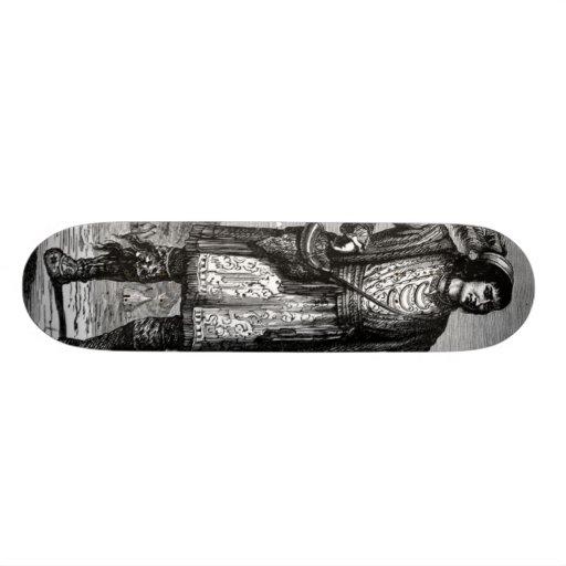 Monopatín americano del jefe indio patines personalizados