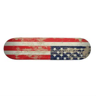 Monopatín apenado de la bandera americana tabla de patinar