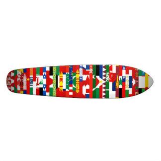 Monopatín asiático de las banderas patines personalizados