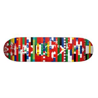 """Monopatín asiático de las banderas patineta 7 7/8"""""""