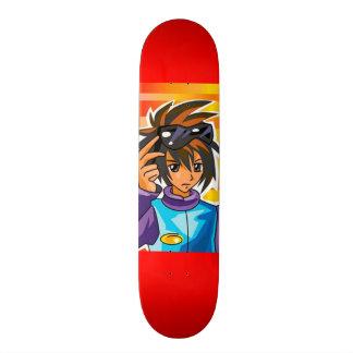 Monopatín asiático del Dibujo animado-Arte Skateboard