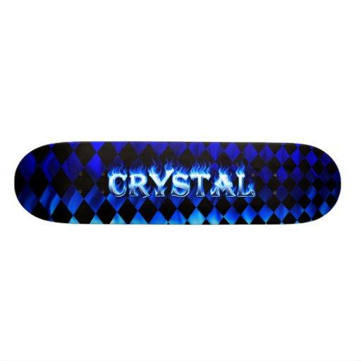 Monopatín azul cristalino de Skatersollie del fueg