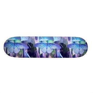 """Monopatín azul de la foto de la mariposa patineta 7 3/4"""""""
