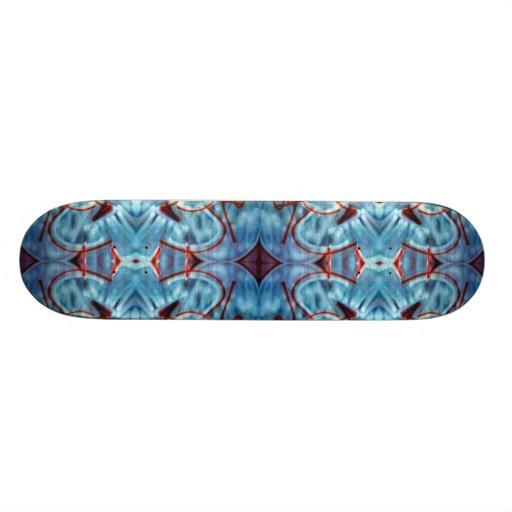 """Monopatín azul de la pintada patineta 7 7/8"""""""