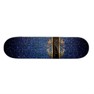 Monopatín azul de los comp del Glitz del disco de