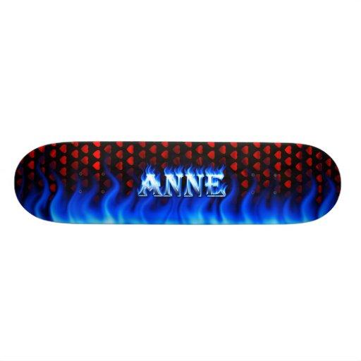 Monopatín azul de Skatersollie del fuego de Anne Skateboard