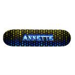 Monopatín azul de Skatersollie del fuego de Annett