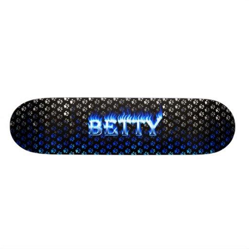 Monopatín azul de Skatersollie del fuego de Betty