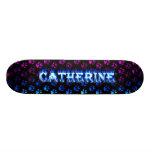 Monopatín azul de Skatersollie del fuego de Cather