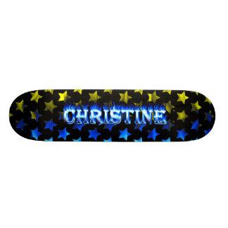 Monopatín azul de Skatersollie del fuego de Christ