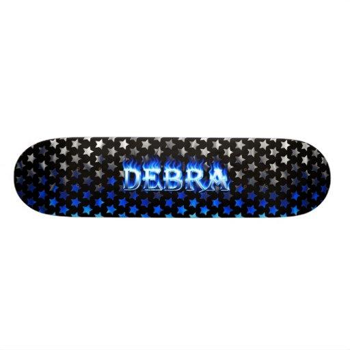 Monopatín azul de Skatersollie del fuego de Debra