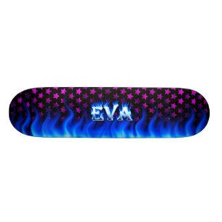 Monopatín azul de Skatersollie del fuego de Eva