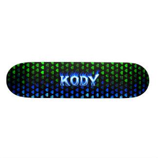 Monopatín azul de Skatersollie del fuego de Kody