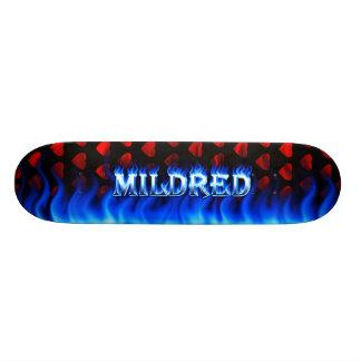 Monopatín azul de Skatersollie del fuego de Monopatin Personalizado