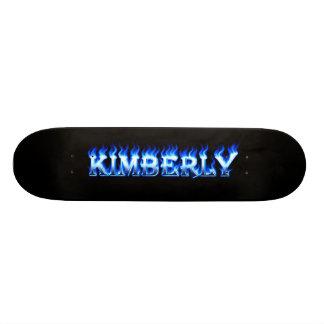 Monopatín azul de Skatersollie del fuego de Patines Personalizados