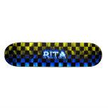 Monopatín azul de Skatersollie del fuego de Rita