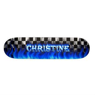 Monopatín azul de Skatersollie del fuego de Skateboards