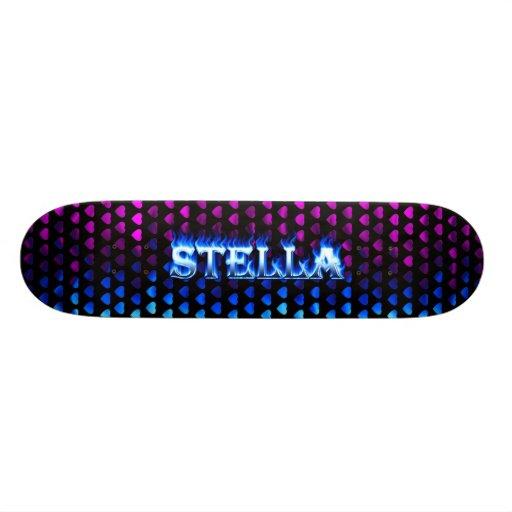 Monopatín azul de Skatersollie del fuego de Stella