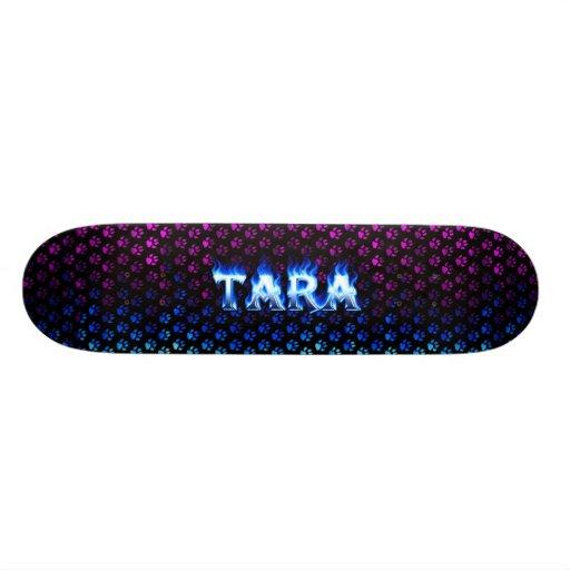 Monopatín azul de Skatersollie del fuego de Tara Skate Board