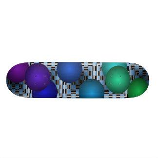 Monopatín azul extremo de la cubierta de las bolas