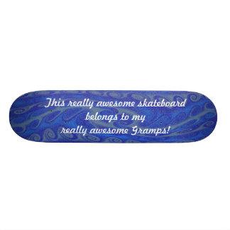 Monopatín azul realmente impresionante de Gramps Patín Personalizado