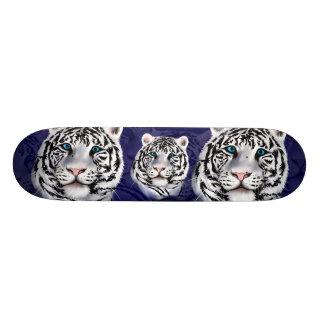 Monopatín blanco de la cara del tigre monopatin personalizado