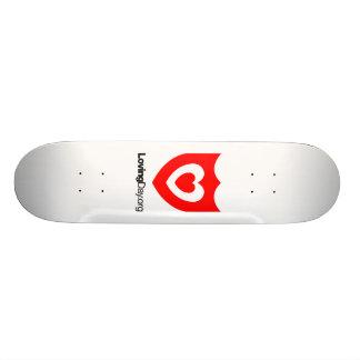 Monopatín blanco tabla de skate
