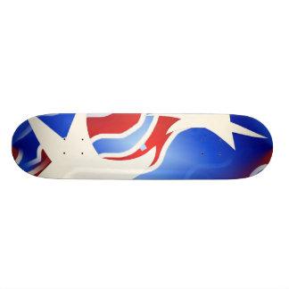 Monopatín blanco y azul rojo patines personalizados