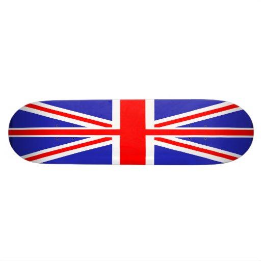 Monopatín británico de la bandera de Union Jack
