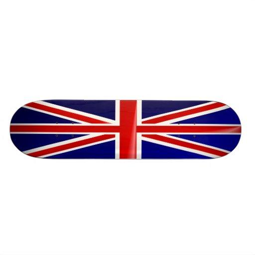 Monopatín británico de la bandera skateboards